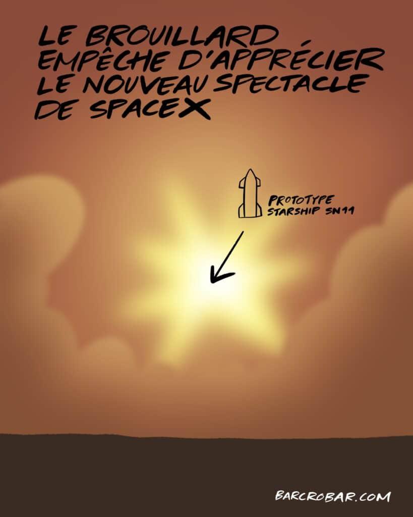 Le vol du Starship SN11 de SpaceX s'est encore mal terminé