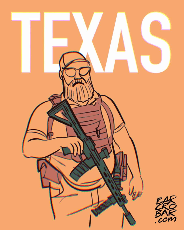 Le port d'arme à feu en public et sans permis autorisé au Texas